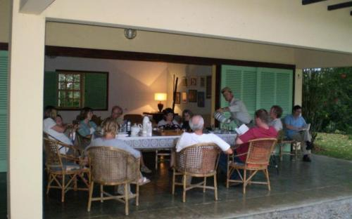 BIAZA group evening at the lodge © Laura Gardner
