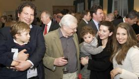 Sir David Attenborough with Albertino Abela (WLT Trustee) and family
