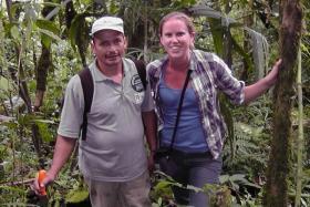 Ranger Jesus Recalde with WLT's Conservation Programmes Officer