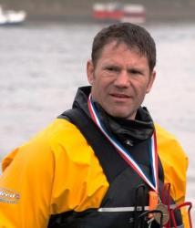 Steve Backshall after completing the race.