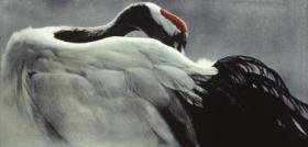 Red Crowned Crane by Robert Bateman.