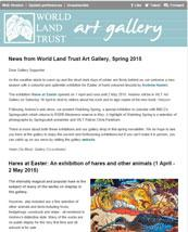 World Land Trust Art Gallery News