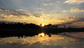 Sunset over the Chaco Pantanal.