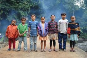 Children from the Garo Hills.