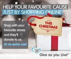 Give as you Live Christmas logo.