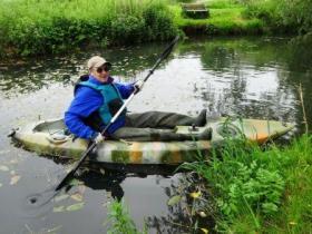 Gerald Burns on his kayak.