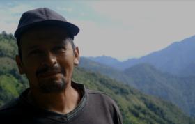 Jesus Recalde in a mountainous landscape