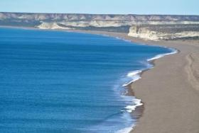View of the coastline of Estancia La Esperanza Wildlife Refuge.
