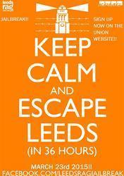 Leeds University rag week poster.