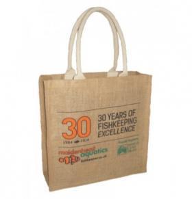 Maidenhead Aquatics' 30th anniversary jute bag.