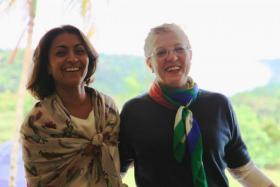 Rohini Finch in Misiones with Viviana Roviro.