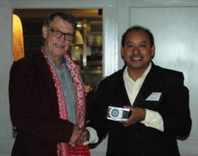 John Burton of WLT with Edilberto Romero of Programme for Belize.