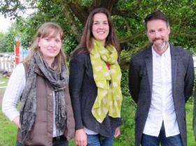 Group photo: Charlotte Beckham, Mary McEvoy, Nick Baker.